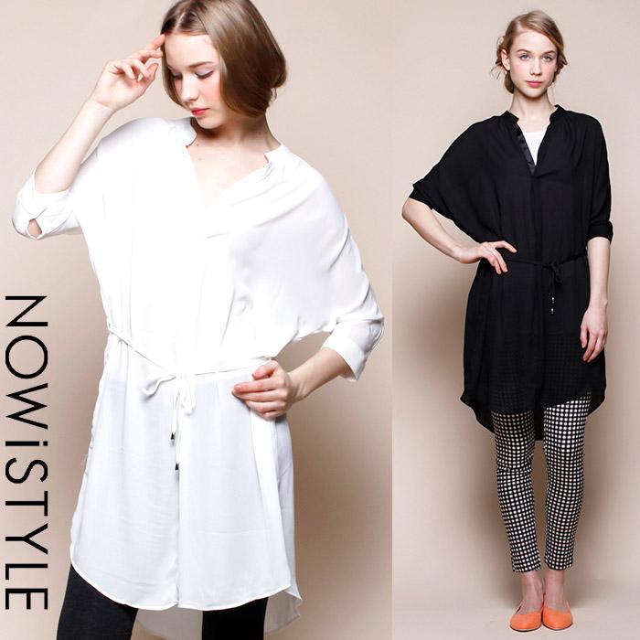 シフォンスキッパーシャツワンピ/ワンピース/春/セレブファッション