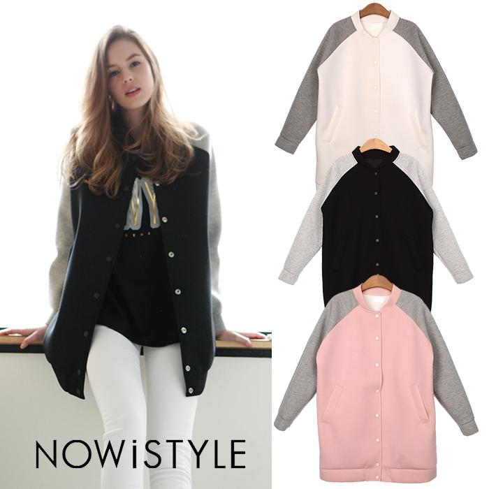 オーバーサイズスプリングコート/ジャンパー/ジャケット/パステル/春/セレブファッション/大きいサイズ