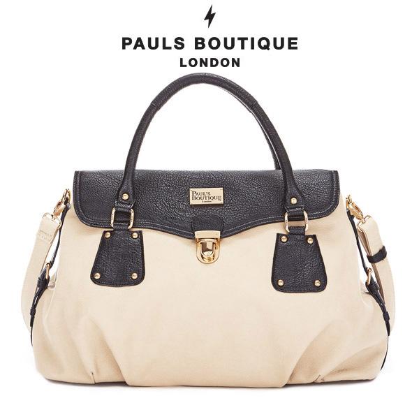 【PAUL'S BOUTIQUE】BRIDGET クラシックカラー2wayバッグ/ハンドバッグ/ショルダーバッグ