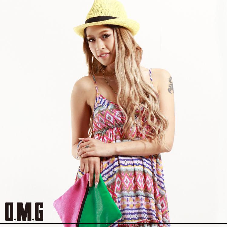 ワンピース通販〜O.M.Gブランドの【RXS】O.M.G/オーエムジー【egg 8月号 掲載商品】キャミマキシワンピース/春夏
