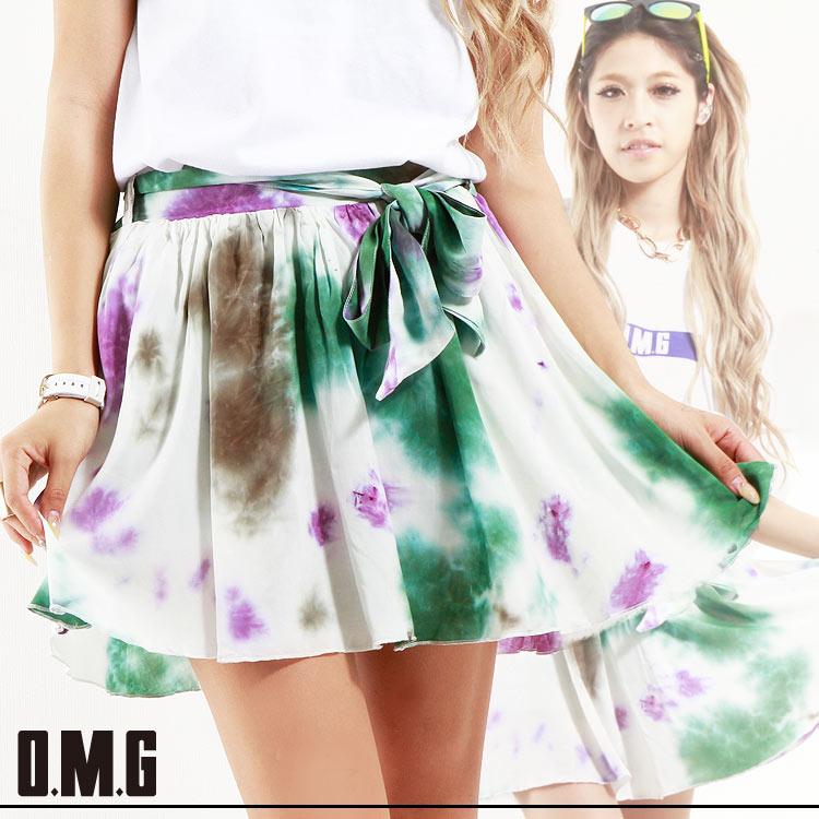 人気アイテム 通販〜O.M.Gブランドの【RXS】O.M.G/オーエムジー/柄フレアーSK/春夏/スカート/タイダイ