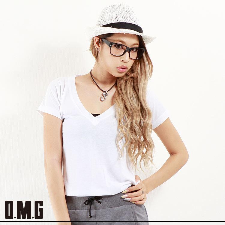 シャツ通販〜O.M.Gブランドの【RXS】O.M.G/オーエムジー/Simple V ネックTシャツ/春夏/シンプル/ベーシック/カジュアル