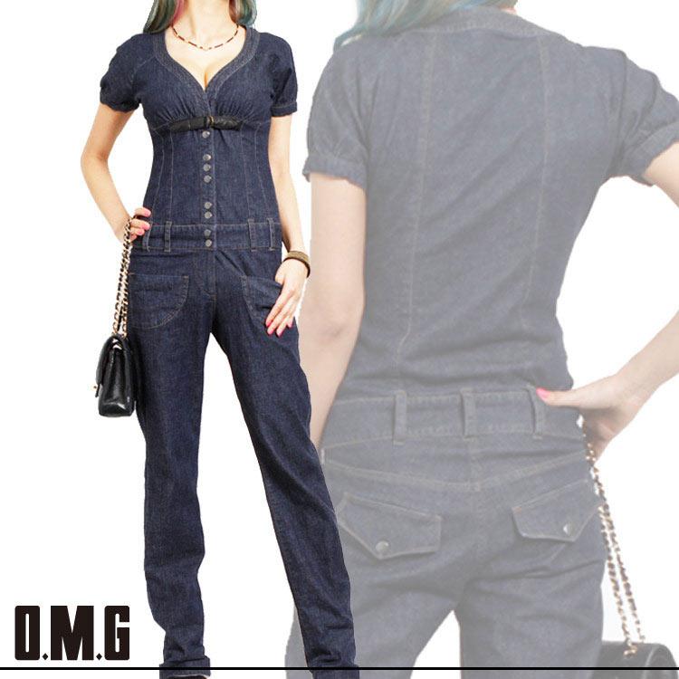 パンツ通販〜O.M.Gブランドの【RXS】O.M.G/オーエムジー/デニムオールインワン/春夏