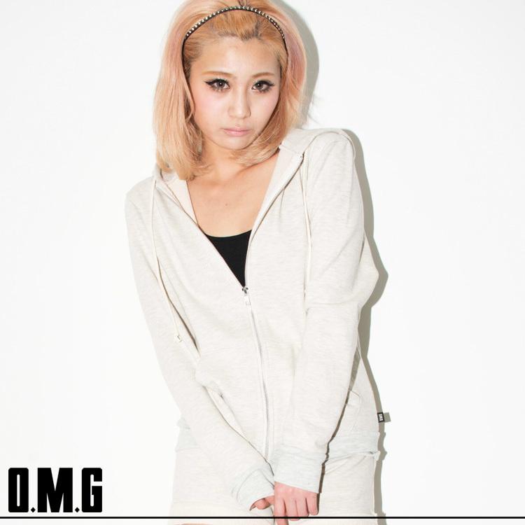シャツ通販〜O.M.Gブランドの【RXS】O.M.G/オーエムジー【SOUL SISTER vo.13 掲載商品】配色Wジップパーカー