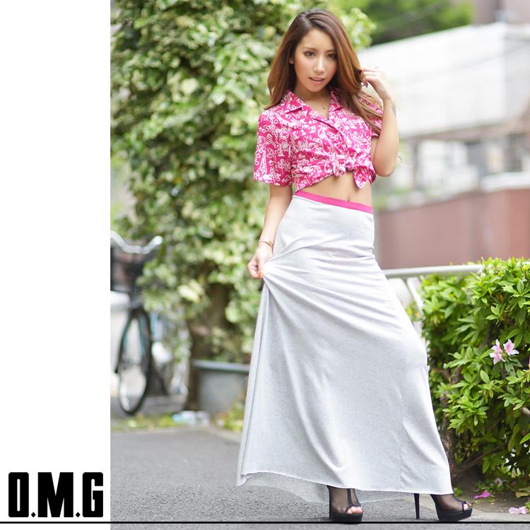 人気アイテム 通販〜O.M.Gブランドの【RXS】O.M.G/オーエムジー/カットマキシスカート/春夏/ロング