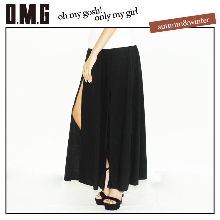 O.M.G/オーエムジー/フロントスリットマキシスカート