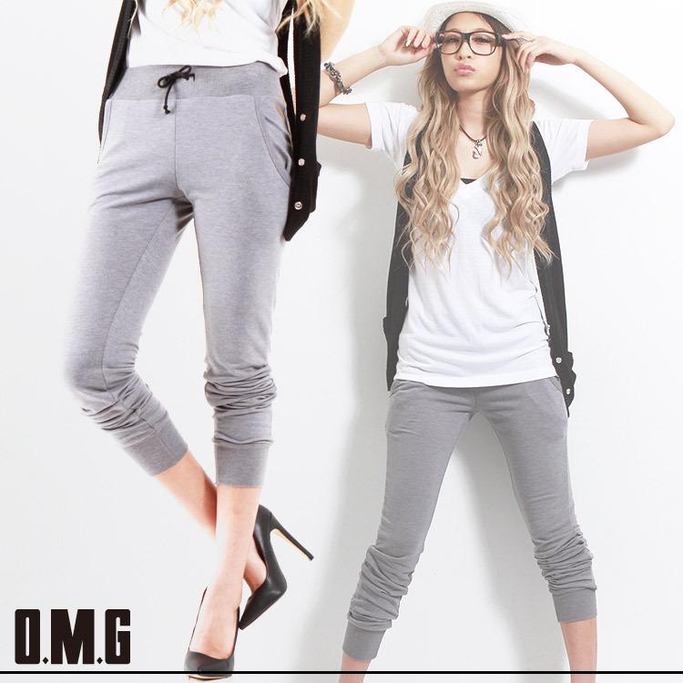 パンツ通販〜O.M.Gブランドの【RXS】O.M.G/オーエムジー/ウエスト&裾リブスエットパンツ/春夏/シンプル/カジュアル