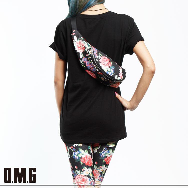 バッグ通販〜O.M.Gブランドの【RXS】O.M.G/オーエムジー/花柄ウエストポーチ/花柄/フラワー
