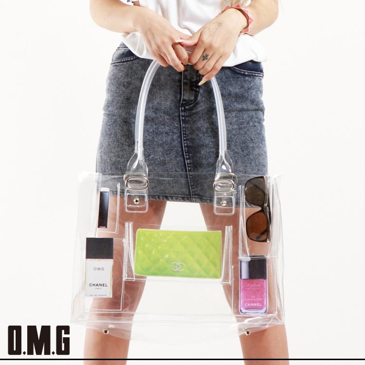 【RXS】O.M.G/オーエムジー/ポケット付ビニールトート