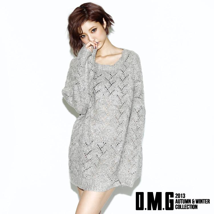 ニット通販〜O.M.GブランドのO.M.G/オーエムジー/Oversized Loose Knit/オーバーサイズルーズニット