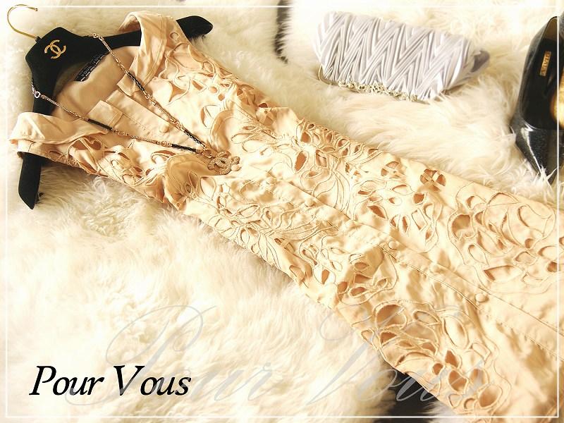 ワンピース通販〜PourVousブランドのPourVousオリジナル ドレス パーティードレス 通販フォーマル & パーティー ミディアムドレス結婚式・ワンピース・ミディアムワンピ パーティドレス ドレス 結婚式・906 大きいサイズ