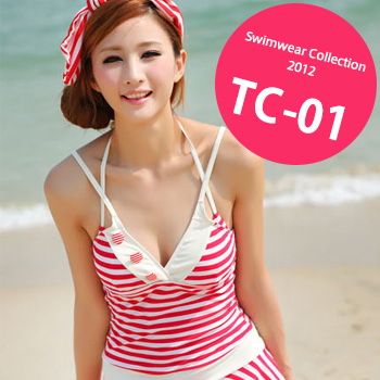 TC-01 SwimwearCollectionレディース水着/女性用水着/大きいサイズあり//体型カバー/タンキニ/セパレート/ワンピース