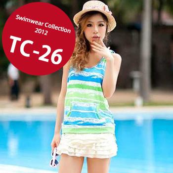 TC-26 SwimwearCollectionレディース水着/女性用水着/大きいサイズあり//体型カバー/タンキニ/セパレート/ワンピース