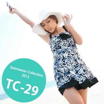 TC-29 SwimwearCollectionレディース水着/女性用水着/大きいサイズあり//体型カバー/タンキニ/セパレート/ワンピース