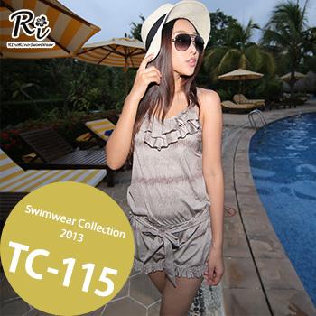TC-115 SwimwearCollectionレディース水着/女性用水着/大きいサイズあり//体型カバー/タンキニ/セパレート/ワンピース