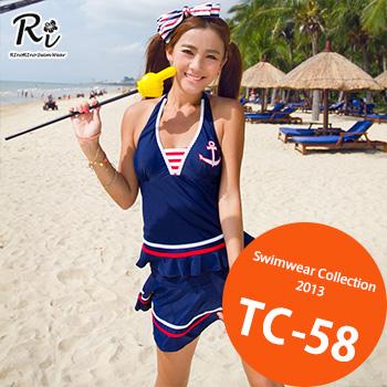 TC-58 SwimwearCollectionレディース水着/女性用水着/大きいサイズあり//体型カバー/タンキニ/セパレート/ワンピース
