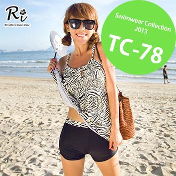 水着2点セット TC-78 SwimwearCollectionレディース水着/女性用水着/大きいサイズあり//体型カバー/タンキニ/セパレート/ワンピース