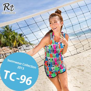 水着3点セット TC-96 SwimwearCollectionレディース水着/女性用水着/大きいサイズあり//体型カバー/タンキニ/セパレート/ワンピース