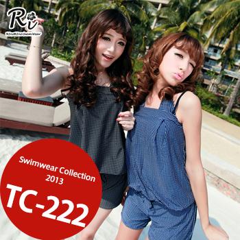 水着3点セット TC-222 SwimwearCollectionレディース水着/女性用水着/大きいサイズあり//体型カバー/タンキニ/セパレート/ワンピース