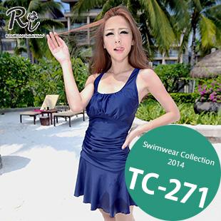 水着通販〜RinoRinoSwimWearブランドの TC-271 SwimwearCollection レディース水着ワンピースレディース水着 新作/女性用水着/大きいサイズあり/ワンピース