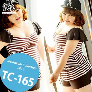 水着通販〜RinoRinoSwimWearブランドの TC-165 SwimwearCollectionレディース水着/女性用水着/大きいサイズあり//体型カバー/タンキニ/セパレート/ワンピース