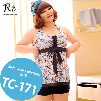 TC-171 SwimwearCollectionレディース水着/女性用水着/大きいサイズあり//体型カバー/タンキニ/セパレート/ワンピース