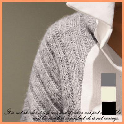 ニット通販〜VIVID LADYブランドの【naning9正規販売/ナンニング】異素材ミックスシャツニット★2色 ベージュ グレー☆タートル ニット ぼかし チュニックワンピース 長袖  レディース 冬 保温対策 おしゃれ 着