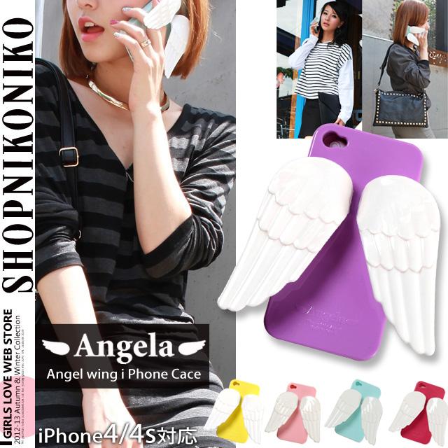 天使の羽付きアイフォンケースiPhone4/4S
