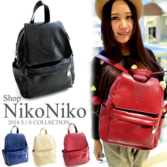4color シンプル かわいいリュックほどよい大きさ リュックサック 鞄