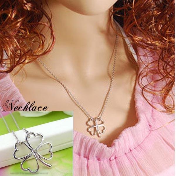 ネックレス通販〜shoppers LAブランドの四葉ネックレス幸せクローバーネックレスod