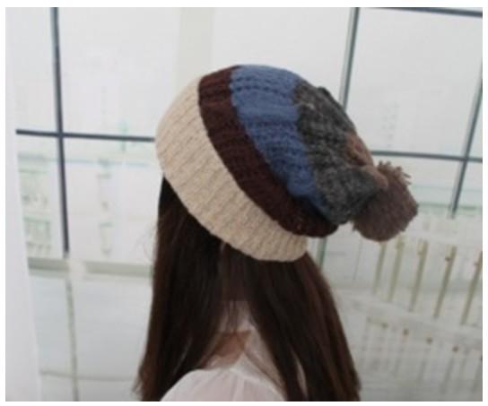 ポンポン付ニット帽CAP帽子od