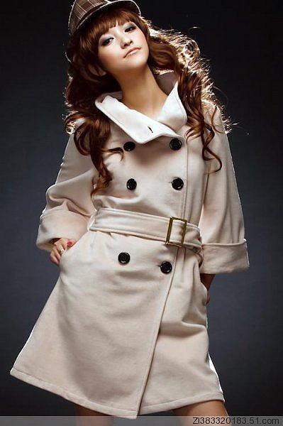 アウター通販〜shoppers LAブランドのシルエット美ロングコート2Wayタイプ襟