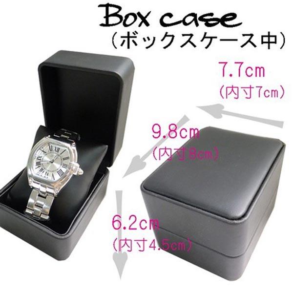 腕時計通販〜shoppers LAブランドの腕時計専用ボックスケース(中)ブラックフェイクレザーod