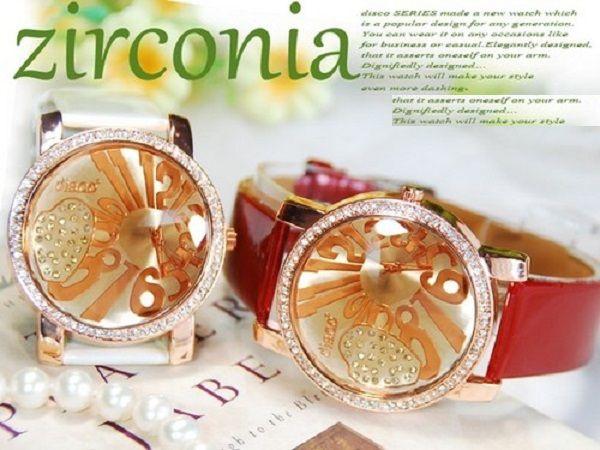 ジルコニア本革ドレスウォッチ腕時計od