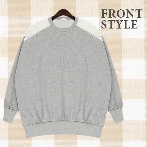 シャツ通販〜TREND-H JAPANブランドの【☆TREND-H☆】レースで上品に女の子らしく♪ヨークレース使いBigTシャツ!インナーのカラーを変えたり小物使いをして華やかコーデ仕上げがオススメ!薄めで柔らかいBigサイズのTシャツは