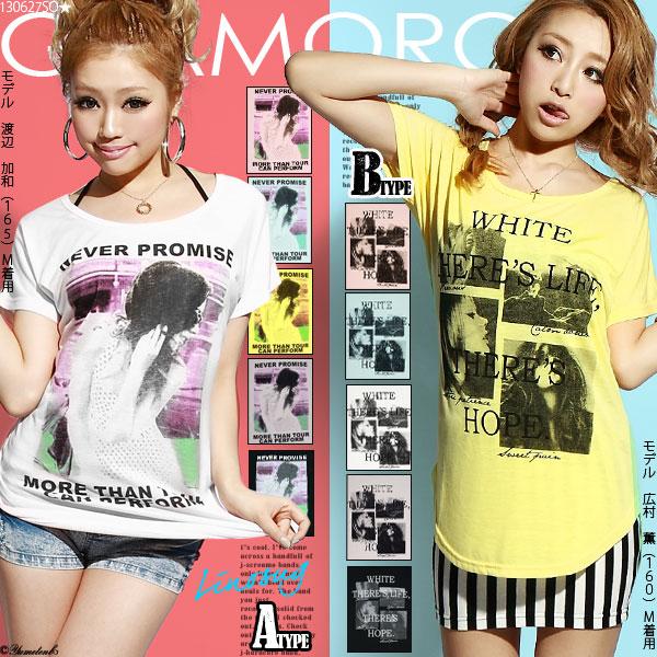 シャツ通販〜夢展望ブランドの[選べる2TYPE!!ガールズフォトプリントTシャツ|GC]◆入荷済
