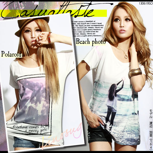 シャツ通販〜夢展望ブランドの[選べる2柄!!!ガールズフォトTシャツ|GC]◆入荷済