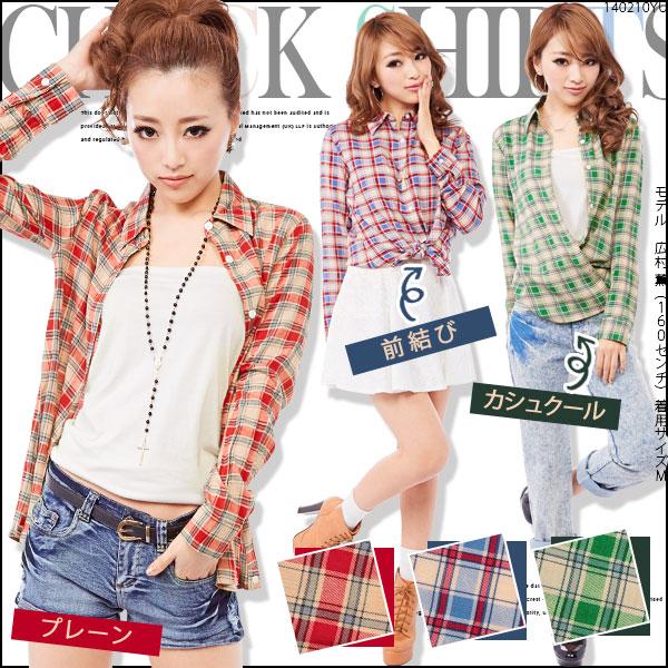 春夏新作[着回し自在な定番アイテム♪選べる3WAYチェックシャツ|E]◆入荷済