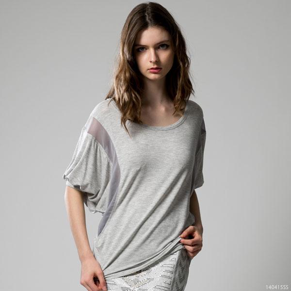 シャツ通販〜夢展望ブランドの[メッシュスリーブ・ルーズトップス|F]◆入荷済