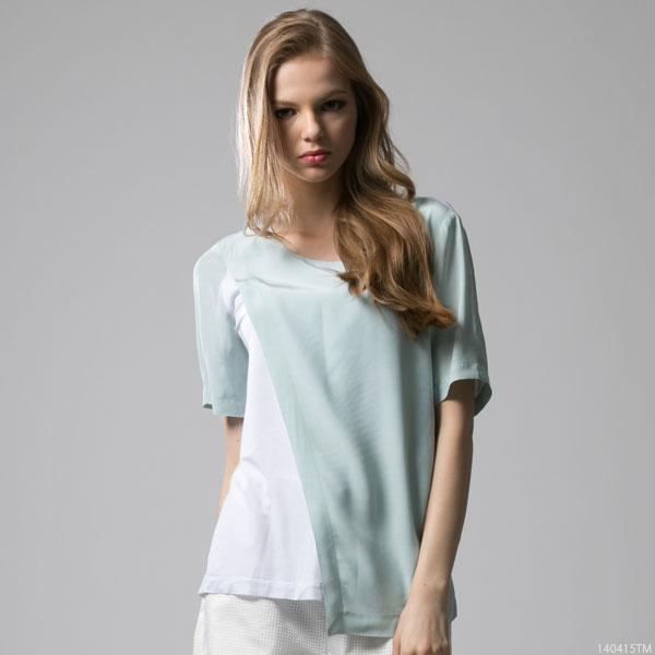 シャツ通販〜夢展望ブランドの[アシメトリー異素材TOPS|F]◆入荷済