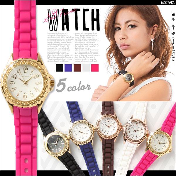 帽子通販〜夢展望ブランドの[ ゴールドフレーム腕時計 G]◆入荷済